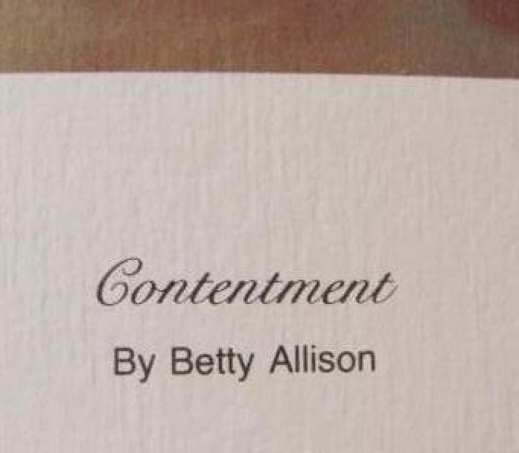 "Betty Allison Print ""Contentment""-S - 2"