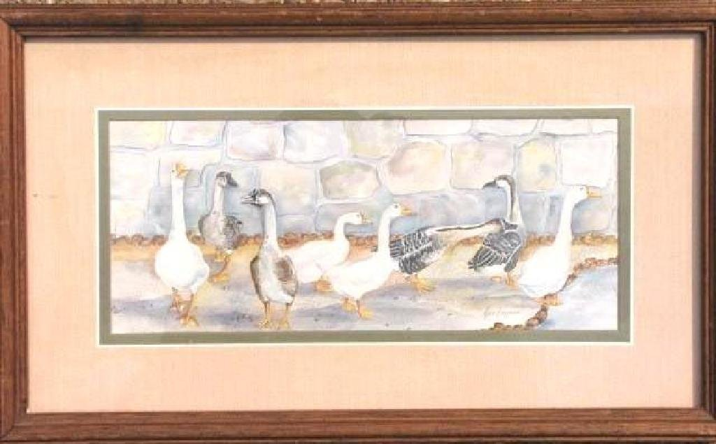 """Watercolor Print """"Geese"""" by Ava Freeman-S"""