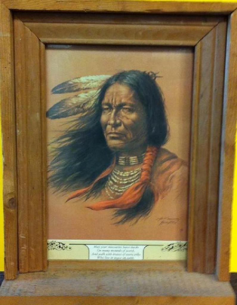 """Indian"" by artist Bill Hampton"