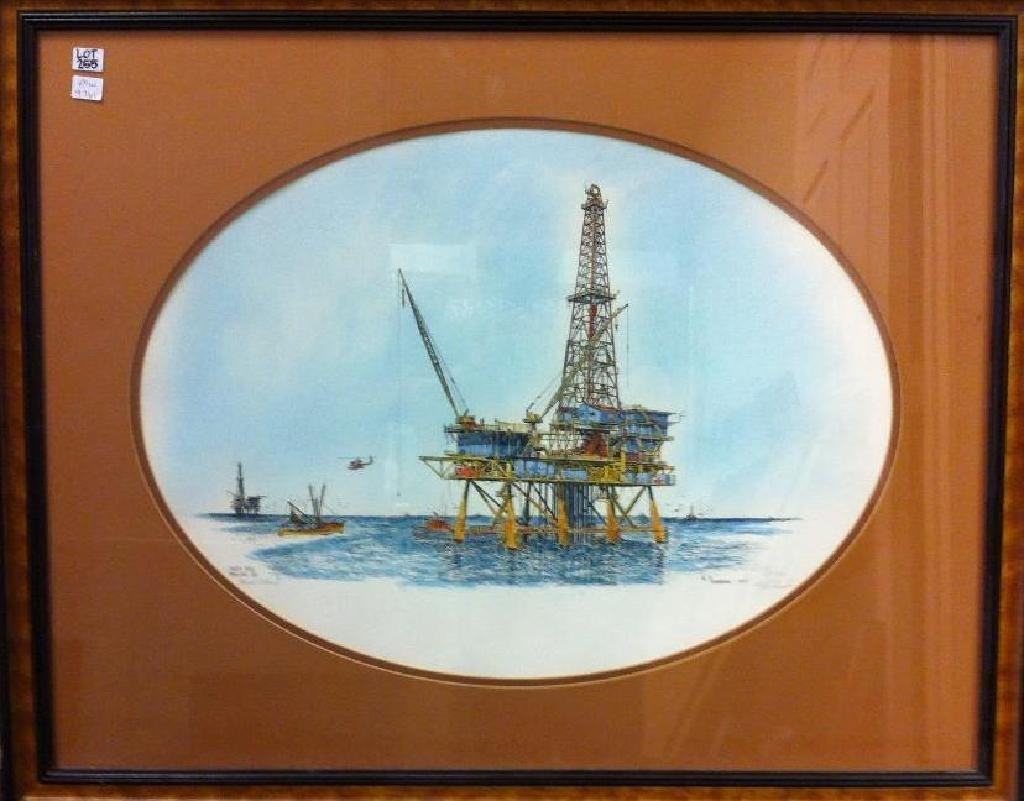 """""""South Pass Drilling RIg"""" by Al Richardson, 279/500"""