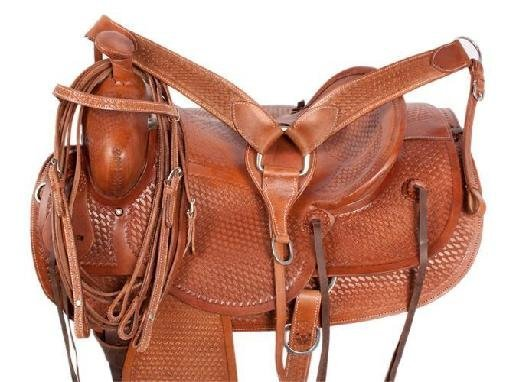 NEW!! Ranch Work Roping Style Leather Horse Saddle 16
