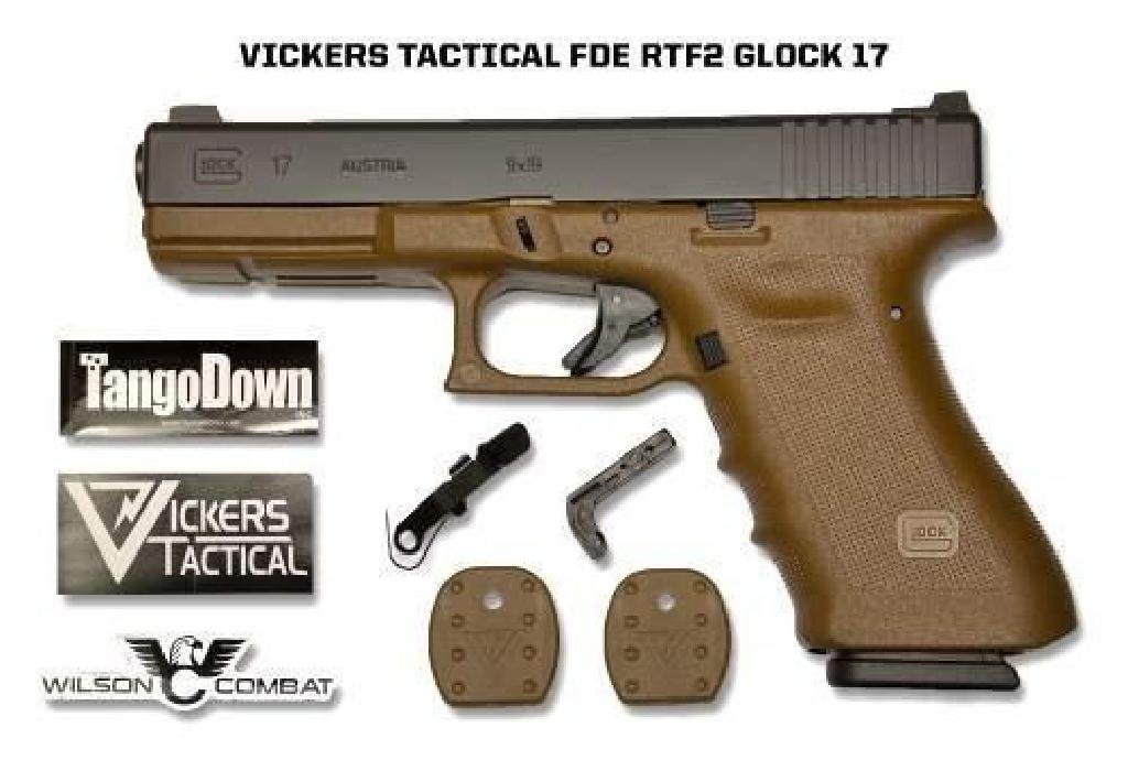 New!! GLOCK G17RTF2 FDE VICKERS TACTICAL 9MM