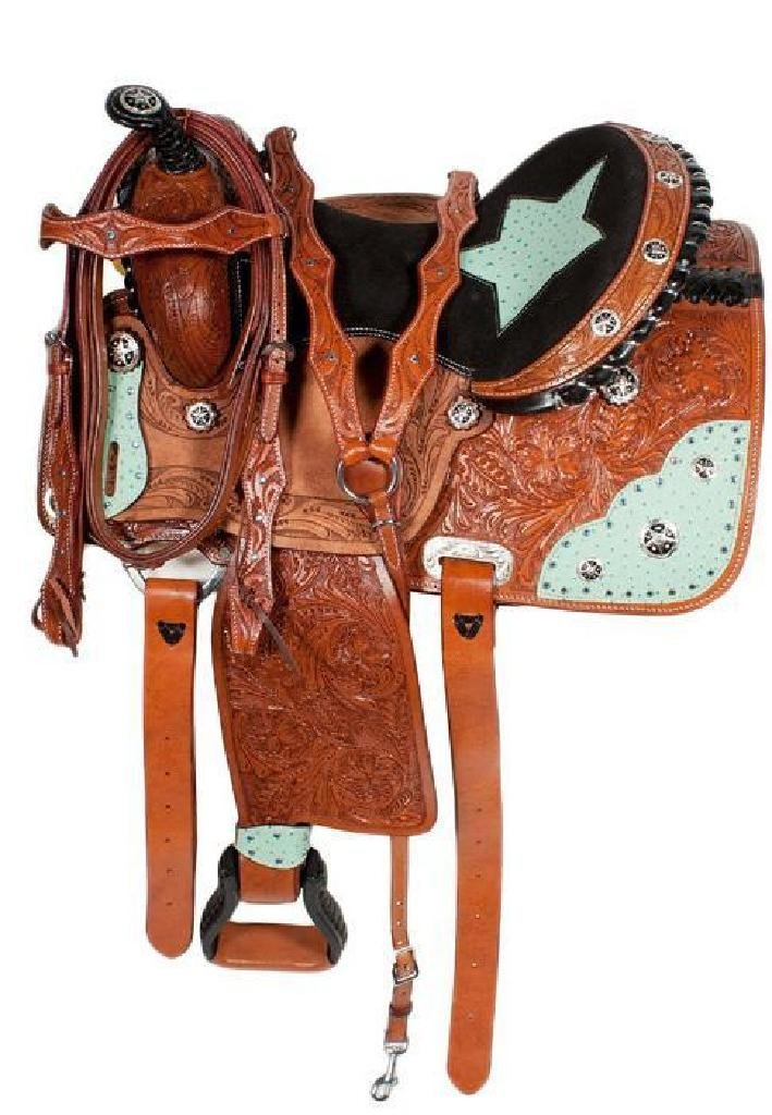 NEW!!! Trail Barrel Saddle Western Leather Horse