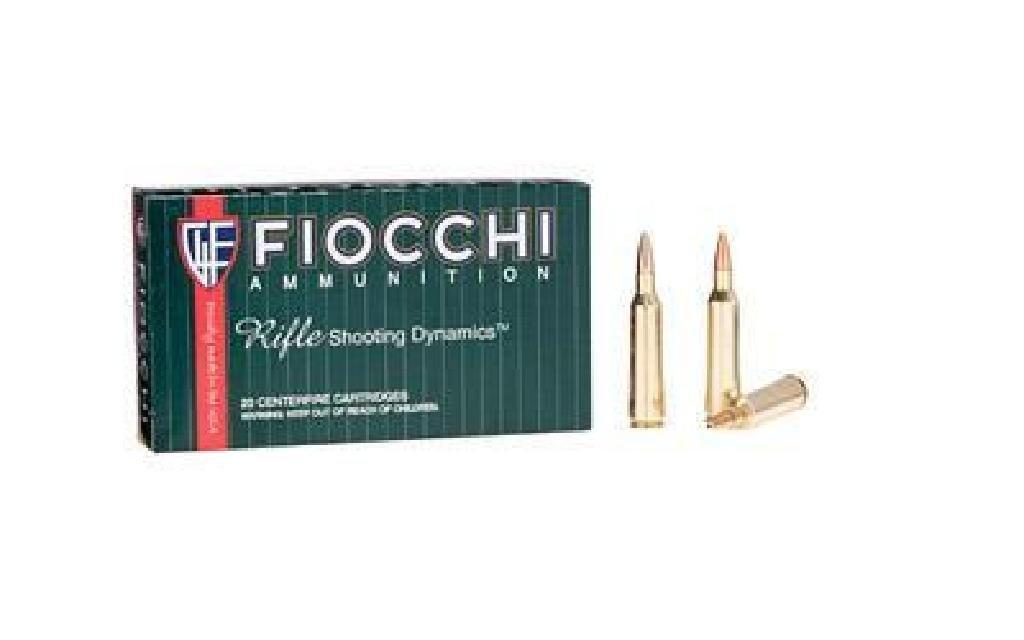(NEW) FIOCCHI 22-250REM 55GR PSP (200 rounds)