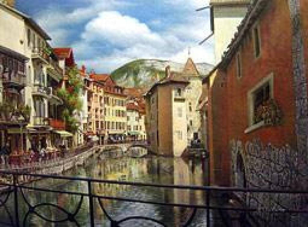 """(ART) """"A Beautiful Morning Along The Annecy Canal,"""