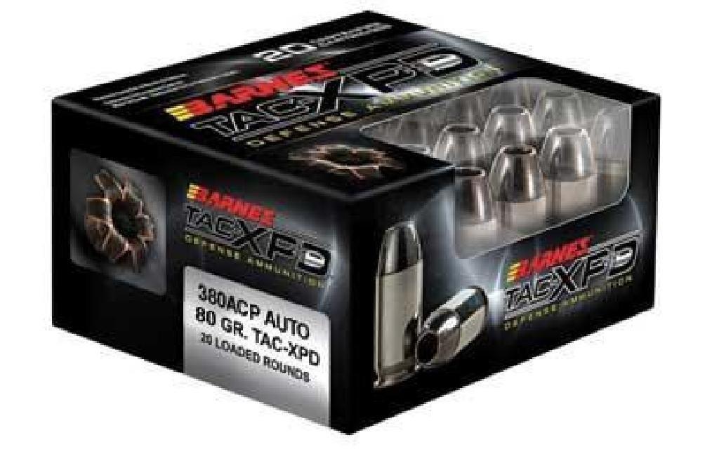 _NEW!_ BARNES TAC-XPD 380ACP 80GR HP (200 ROUNDS)
