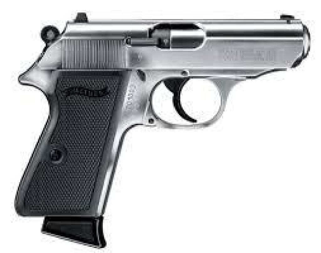 """*NEW* Walther Arms PPK/S .22 22LR 3.35"""" 10+1 Black"""