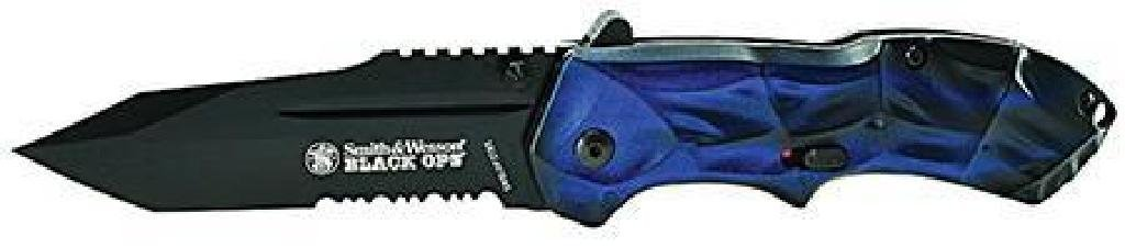 !NEW! S&W Knives SWBLOP3TBLS Black Ops Blue Tanto UPC #
