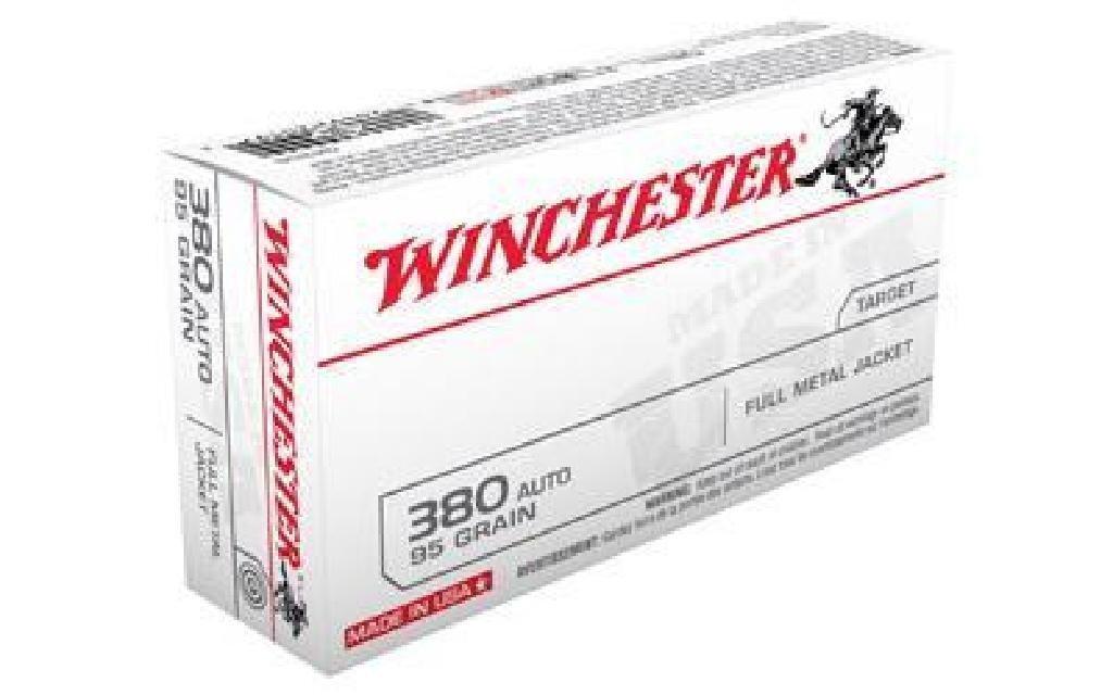 *AMMO* Winchester Q4206 USA 380 ACP FMJ 95 GR (500