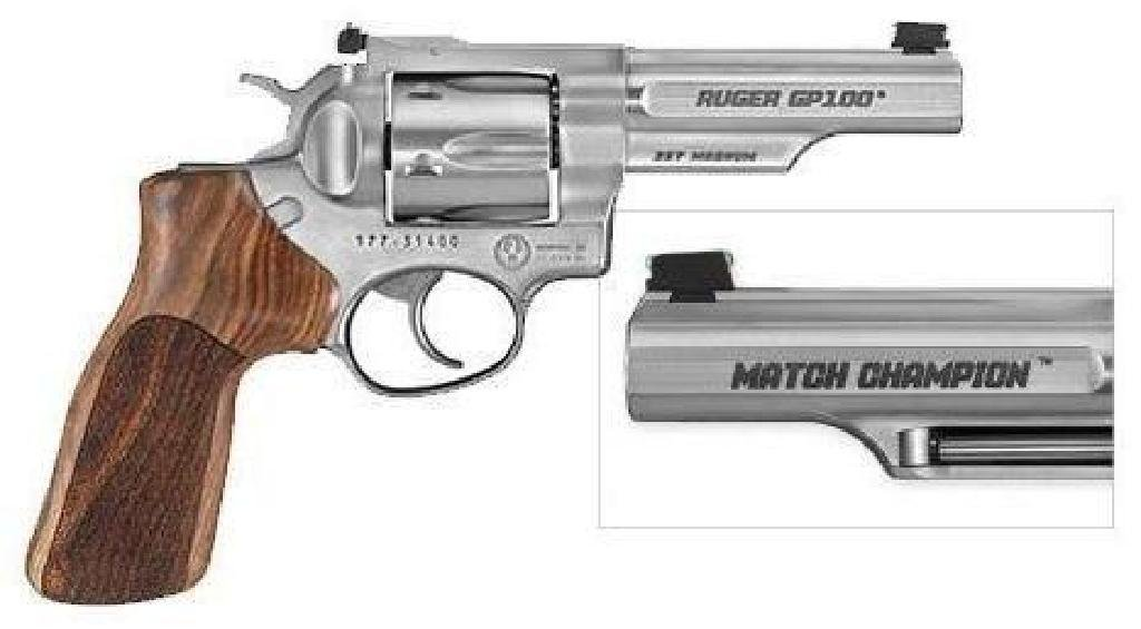 """*NEW* RUGER GP100 Match Champion 357 Mag/ 38 SPC 4.2"""""""