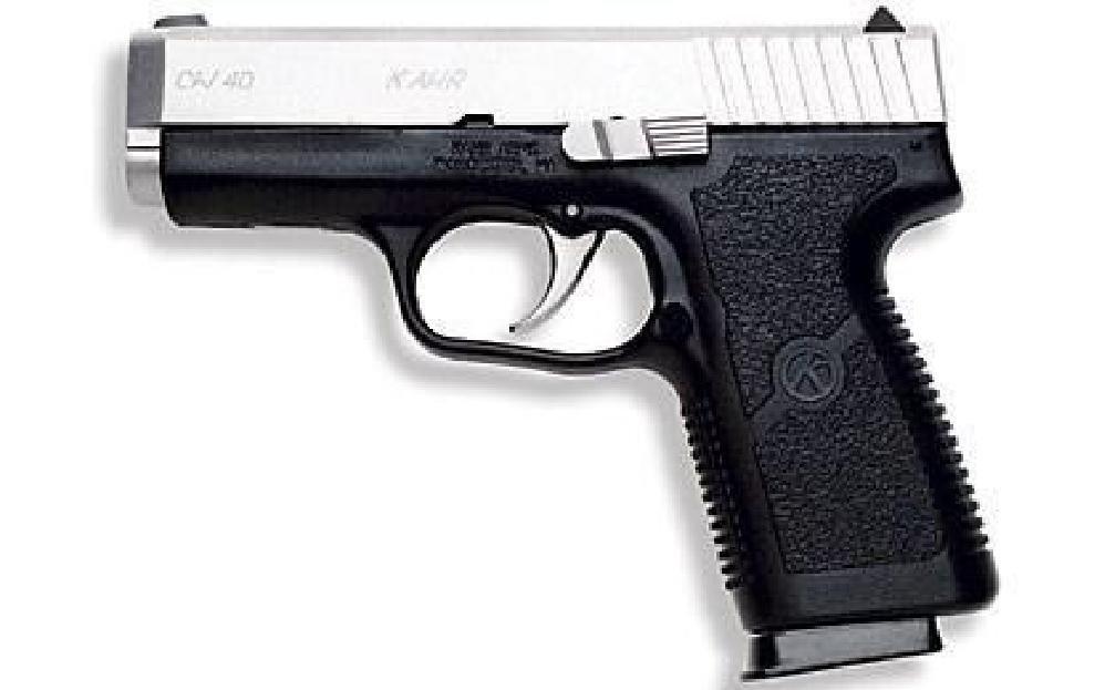 """*NEW* KAHR ARMS CW40 STD 40 SW 3.6"""" 6+1 Black Poly Grip"""