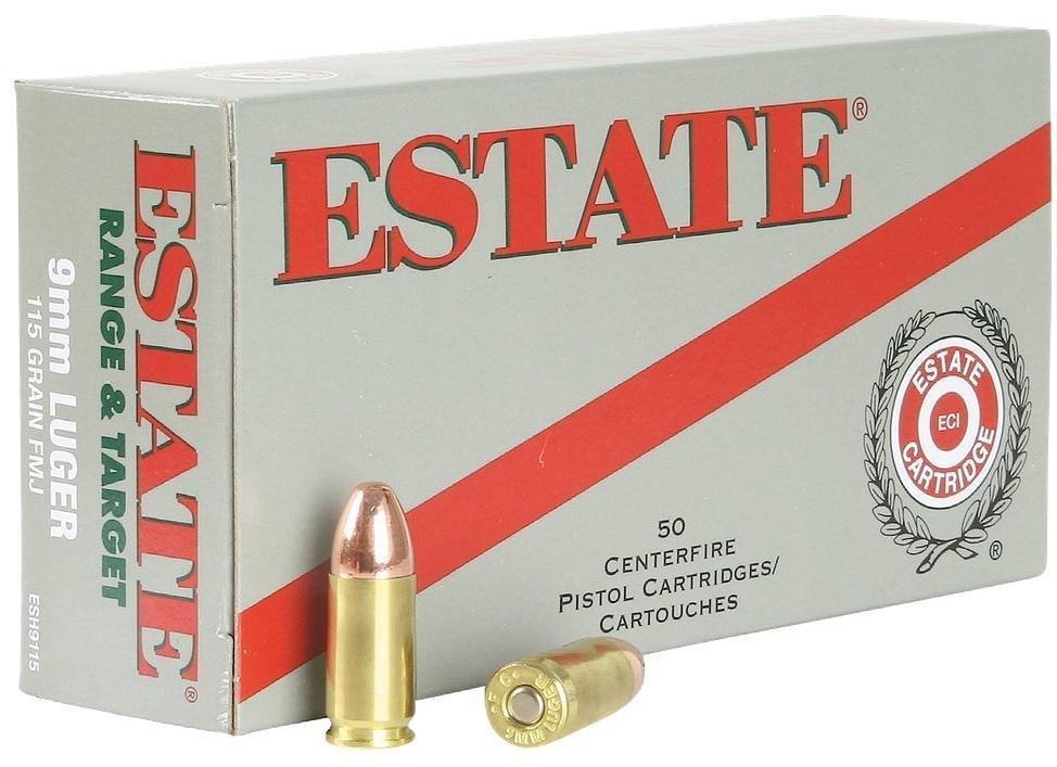 *AMMO* Estate ESH9115 Range 9mm Full Metal Jacket 115GR