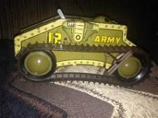 Vintage Army tank wind-up by Marx