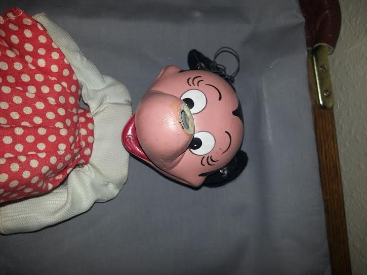 Vintage Wooden Mickey & Minnie Mouse Dolls - 2