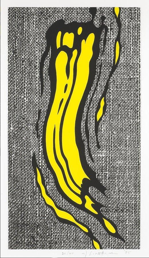 Roy Lichtenstein Yellow Brushstroke 1985