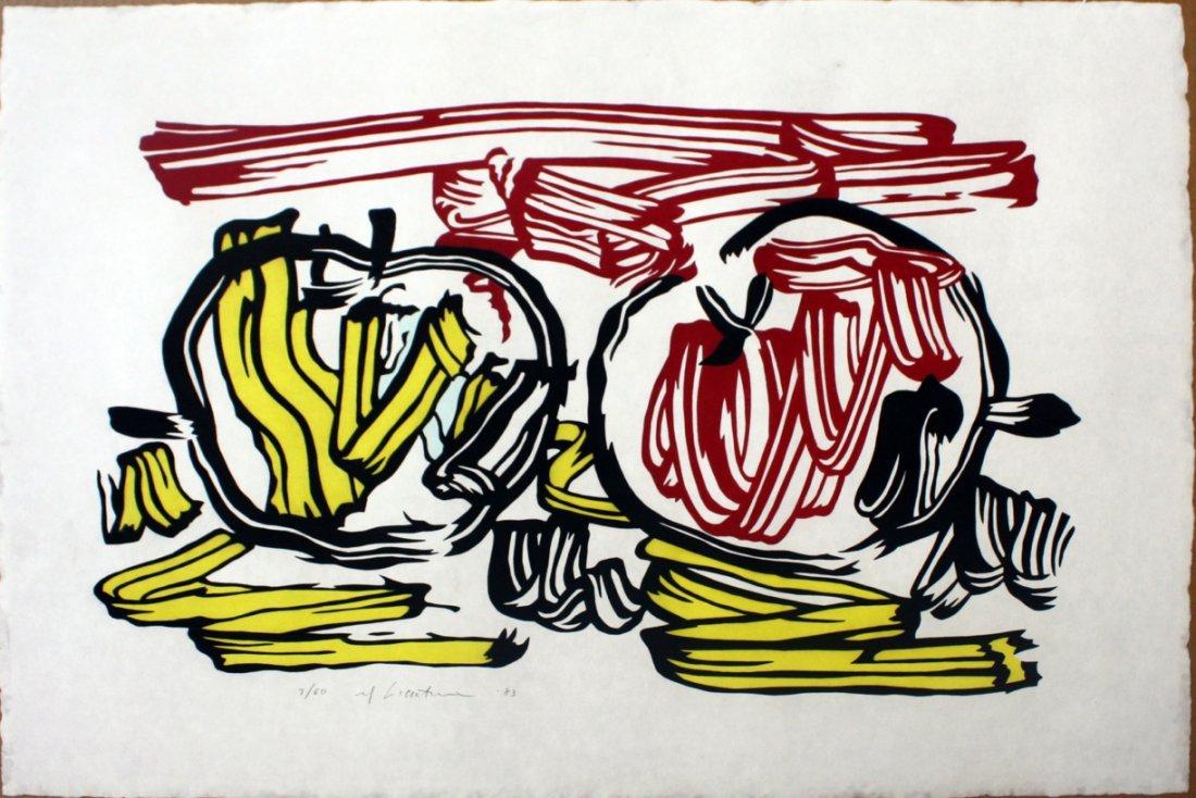 Roy Lichtenstein: Red Apple and Yellow Apple
