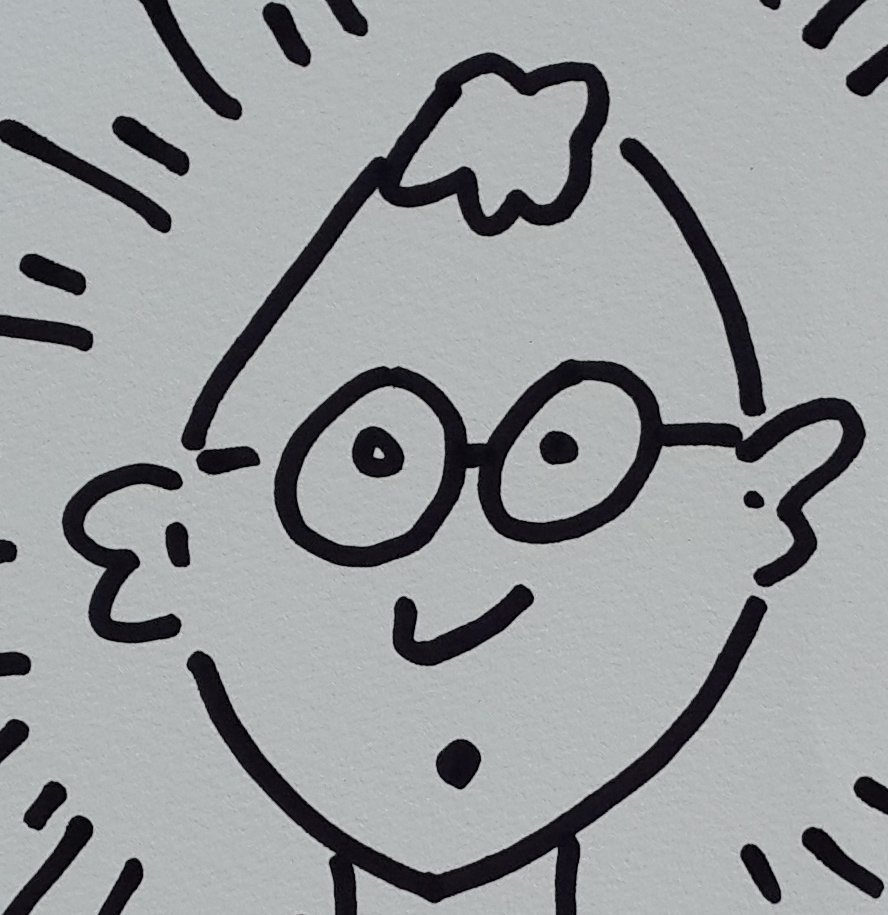 Keith Haring Self Portrait Drawing - 3