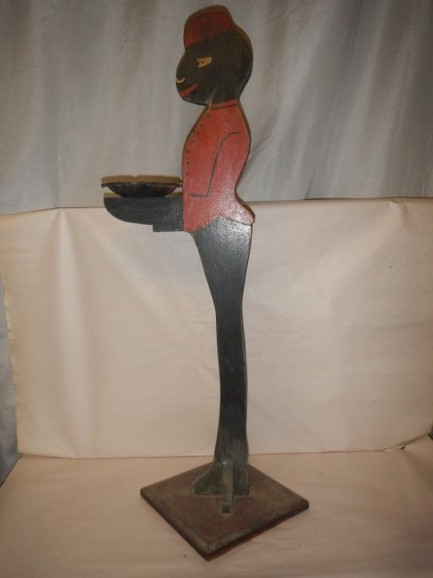Antique 1920s Hand Painted Black Americana Folk Art