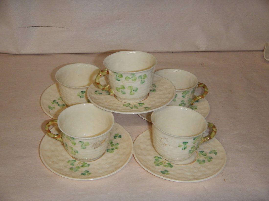 Belleek Tea Cup and Saucer - 2