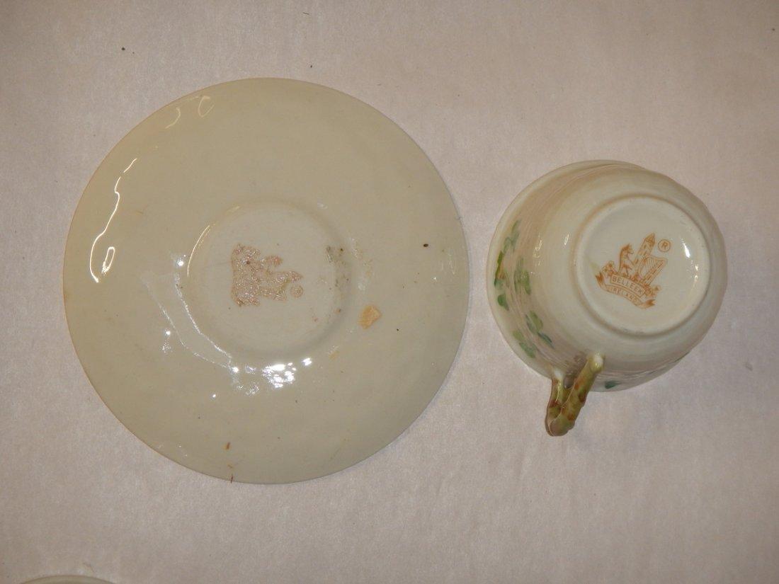 Belleek Tea Cup and Saucer - 3