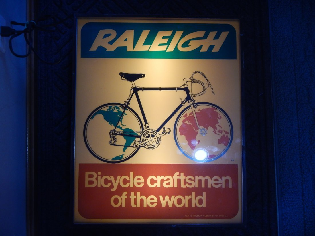 Raleigh bicycle Store Display Sign