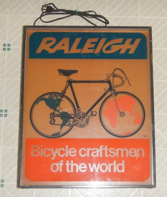 Raleigh bicycle Store Display Sign - 3