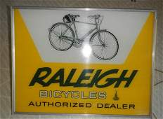 Raleigh bicycle Store Display lighted Sign