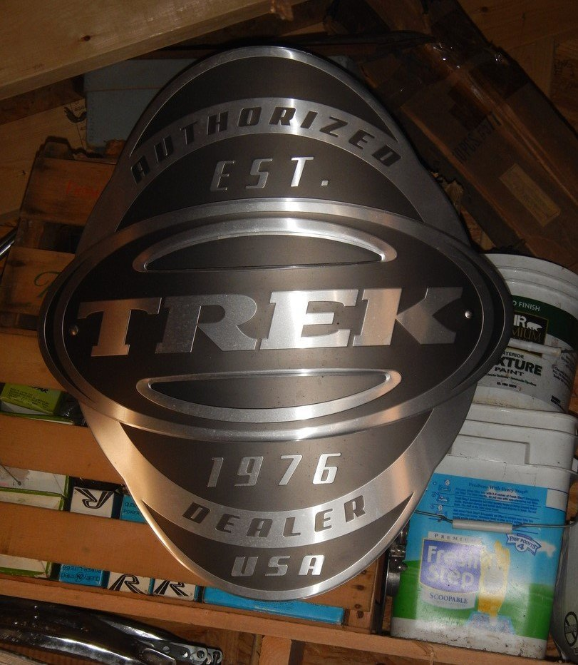 Trek bicycle dealer Sign