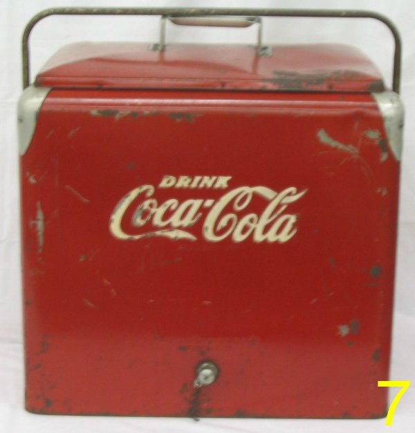 L007 - Red Coca Cola Cooler