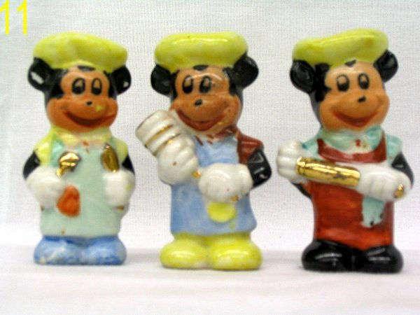 L011 - 3  1940's-60's Mickey Mouse Figures