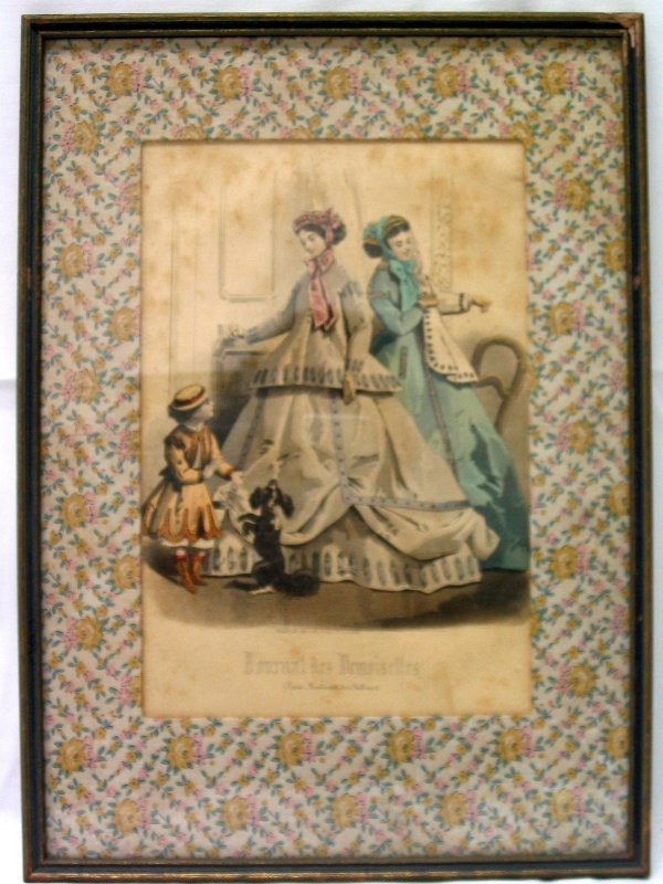 L509-2 nicely matted and framed Godey's