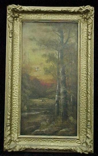 L517-Signed oil painting circa 1880.