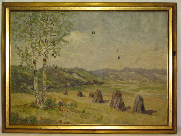 L520-Painting Countryside Scene by V. Andok