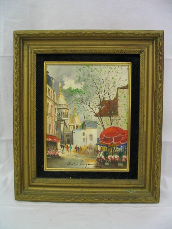 L521-Pair of signed French Oil Paintings