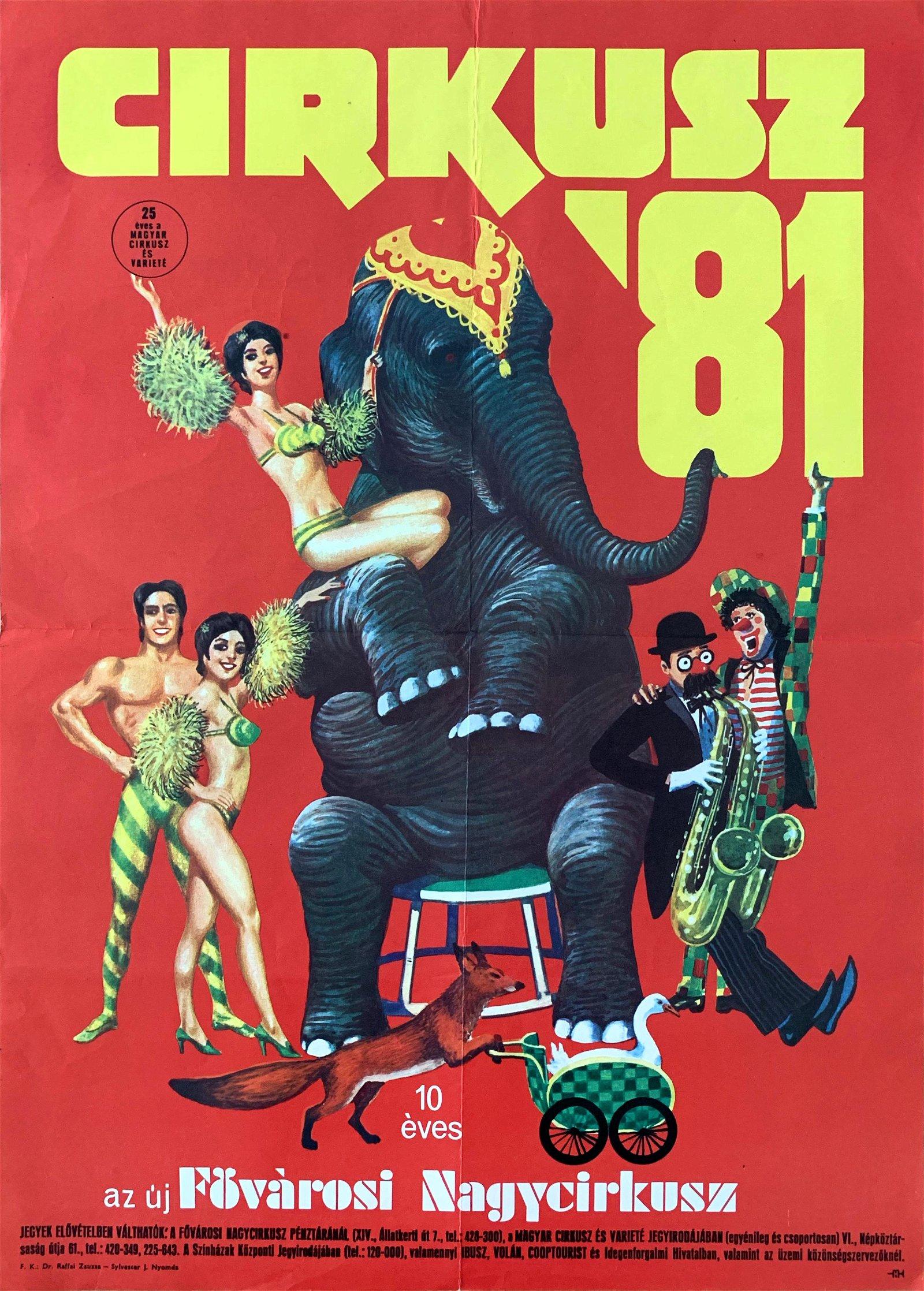 Advertising Poster Circus '81 1981