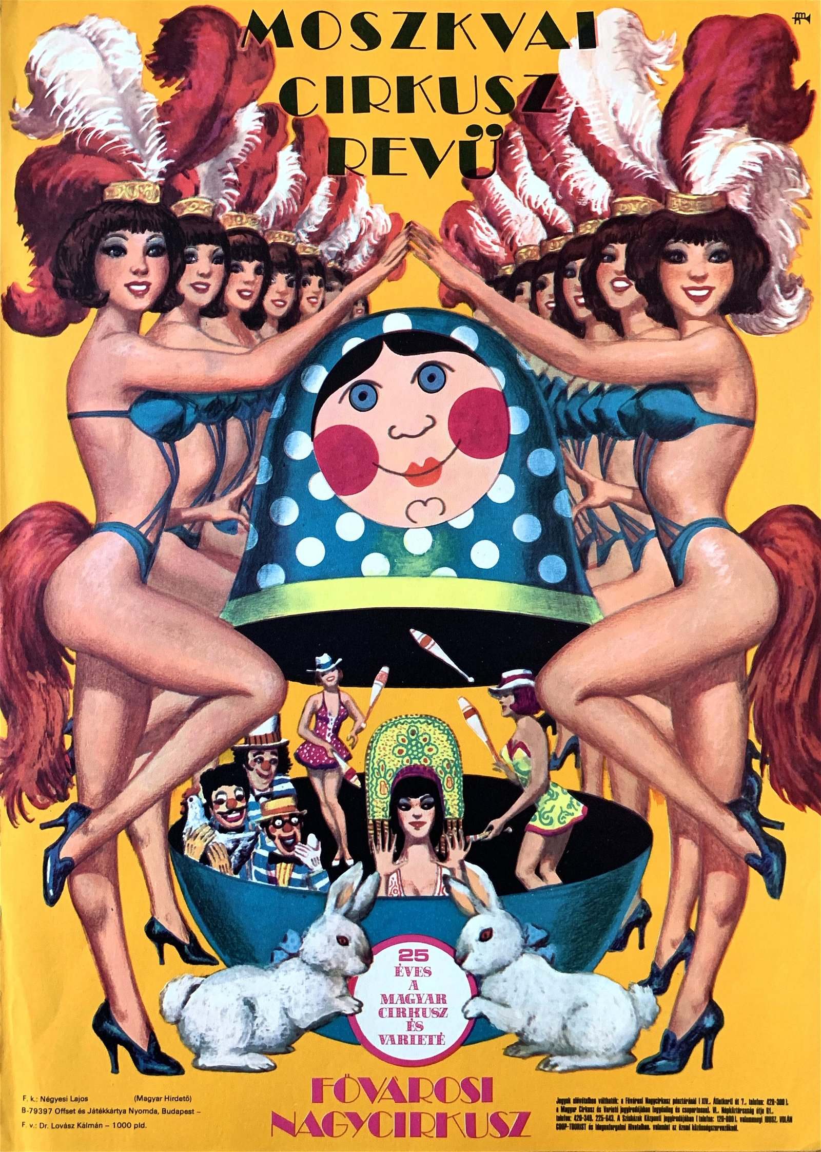 Advertising Poster Moscow Circus Revue 1979