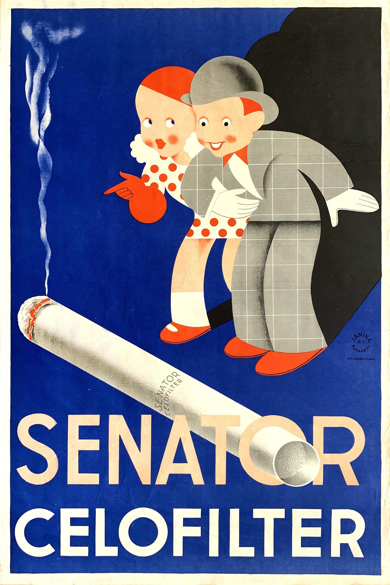 Advertising Poster Senator Celofilter 1939