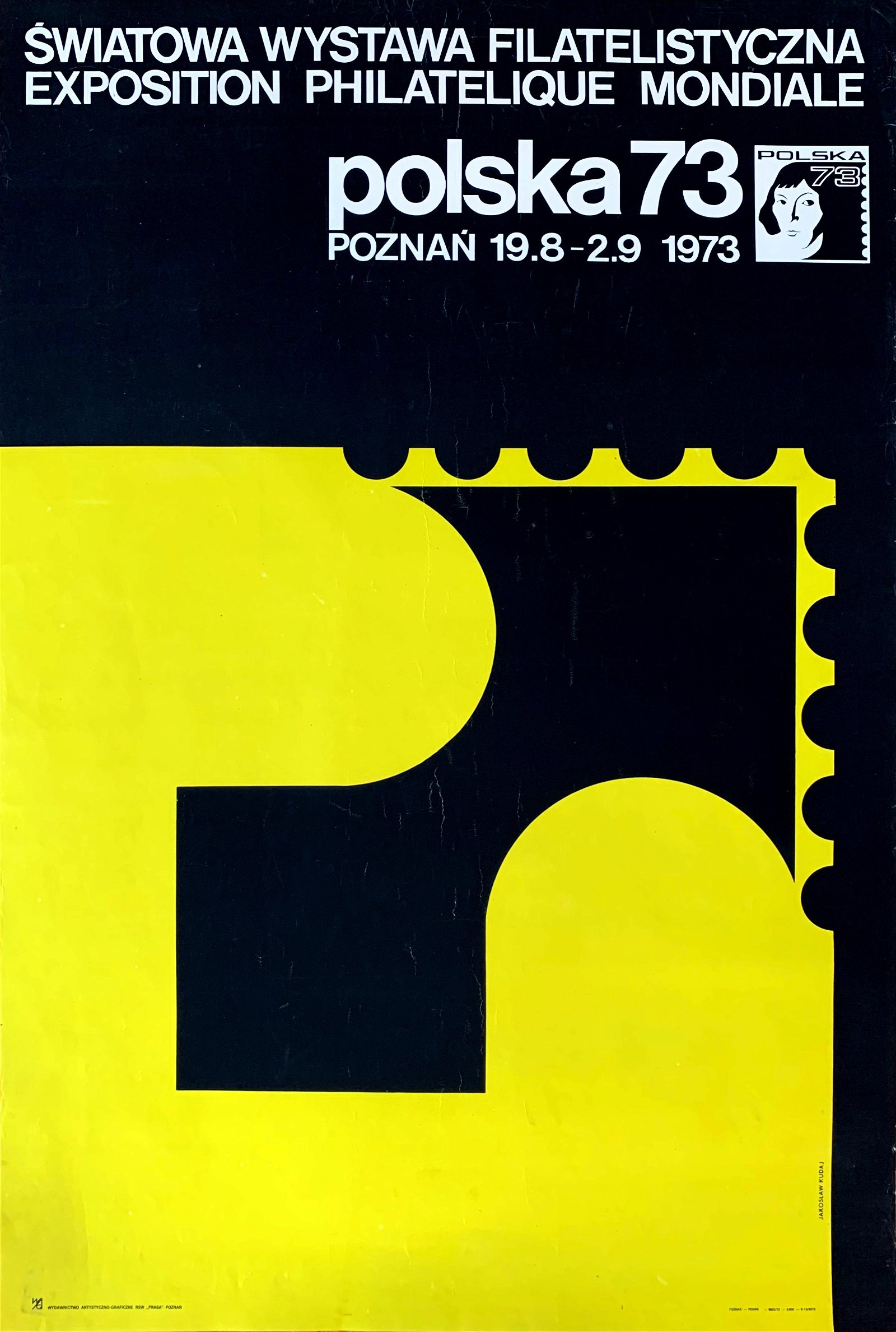 Poster World Philatelic Exhibition Poland 1973