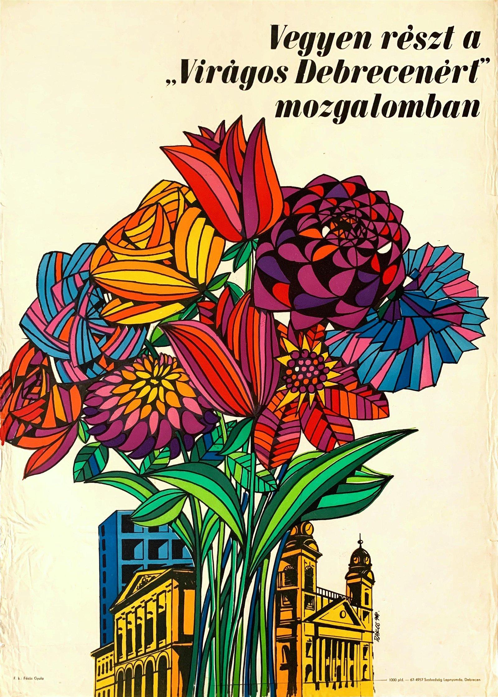 Poster Participate in the Flowery Debrecen movement
