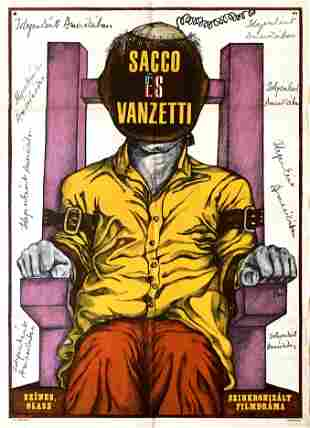 Movie Poster Sacco & Vanzetti 1972