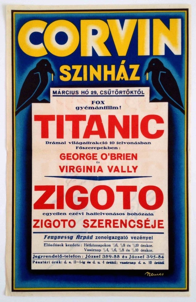 Corvin Cinema, Titanic, Zigoto