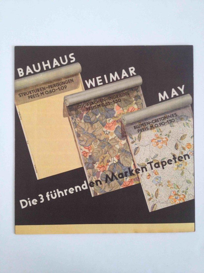 Bauhaus, Weimar, May wallpaper catalogue
