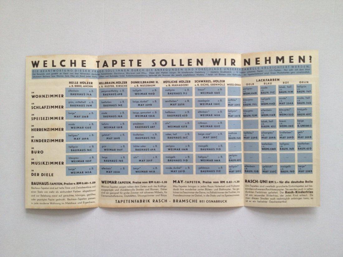 Bauhaus, Weimar, May wallpaper catalogue - 3