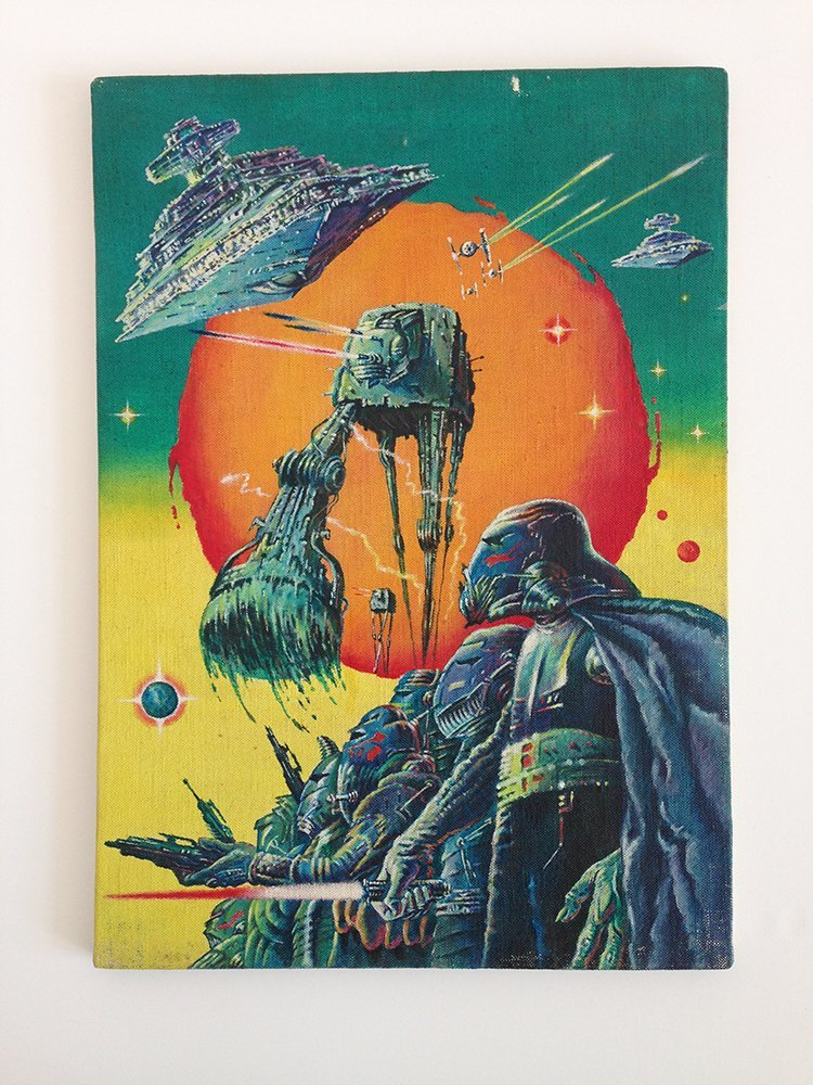 Star Wars: The Empire Strikes Back painted poster