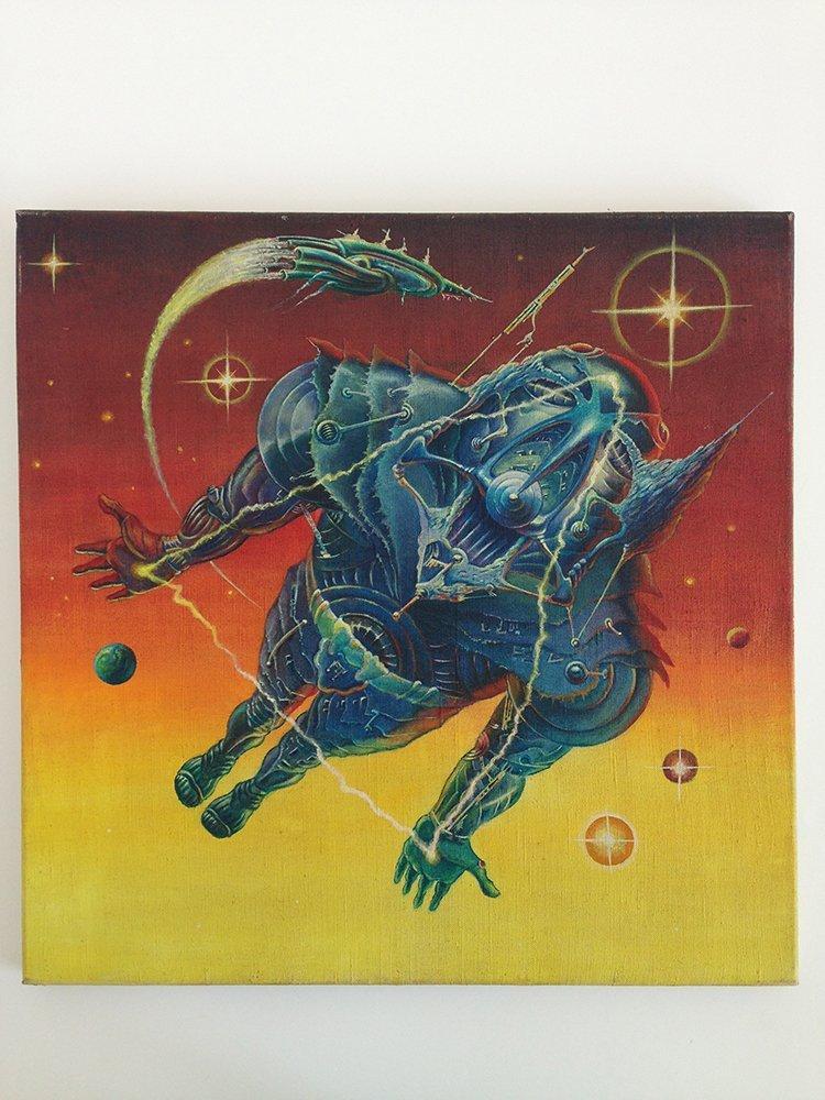 Alien painted poster artwork