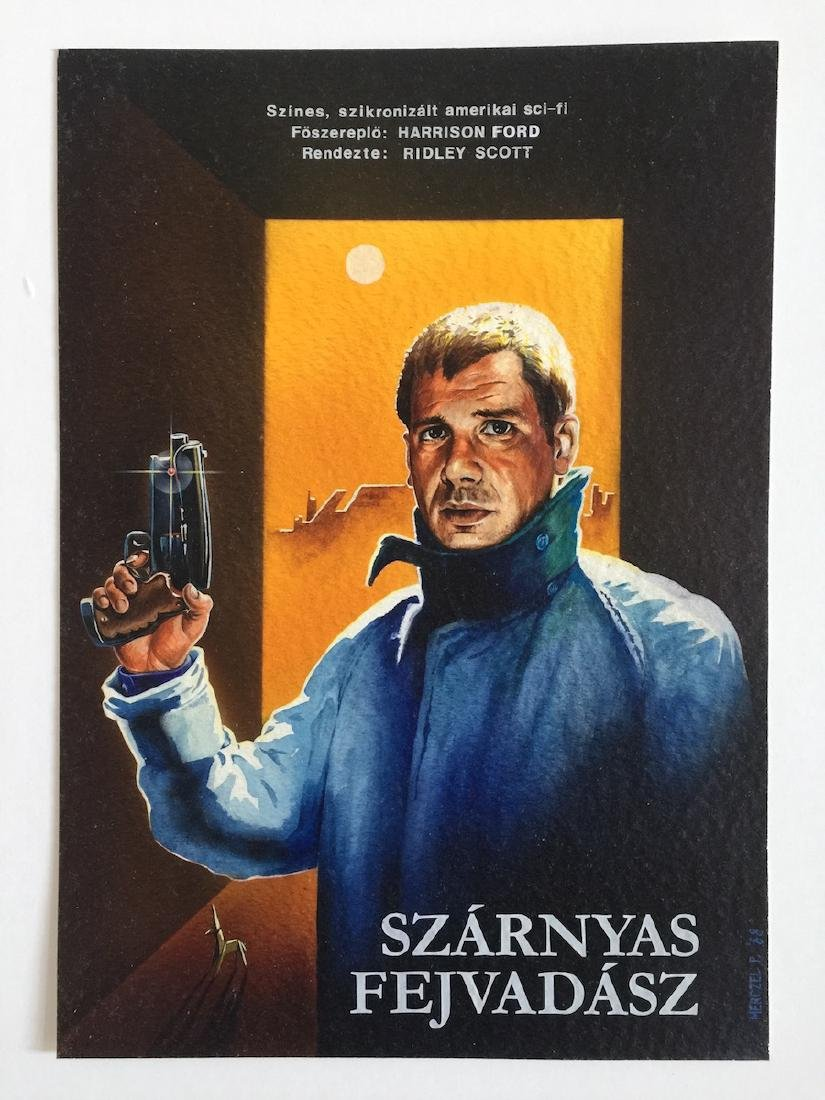 Blade Runner Hungarian poster maquette 1988