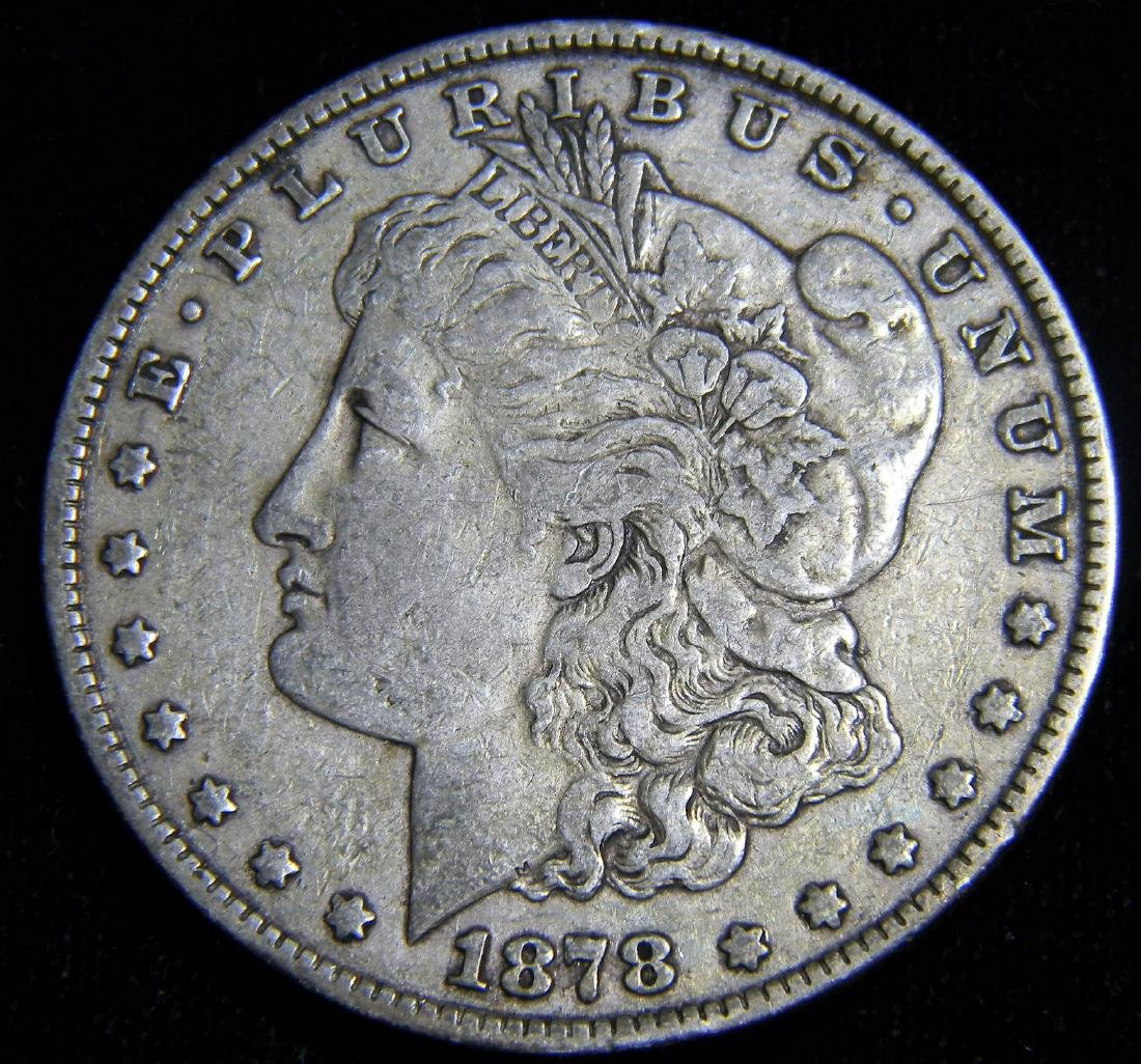 1878 7 Tail feathers Reverse 79 Morgan Silver Dollar
