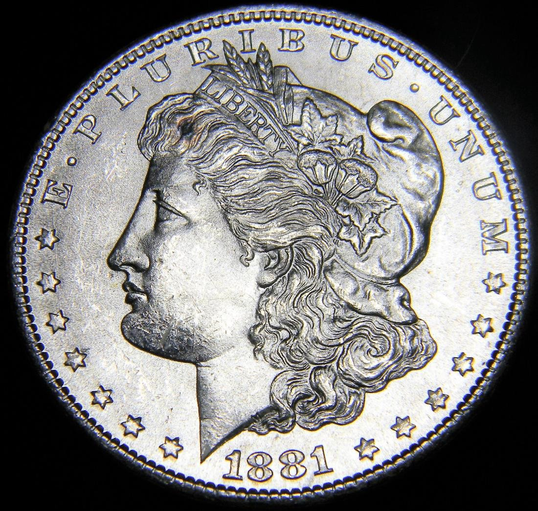 1881 S Morgan Silver Dollar, Mint State Proof like