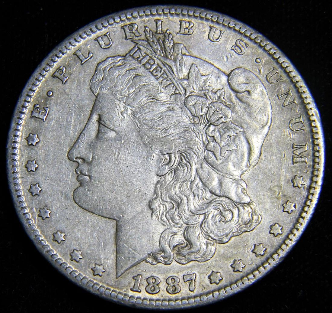 1887 S Morgan Silver Dollar from the Wild West