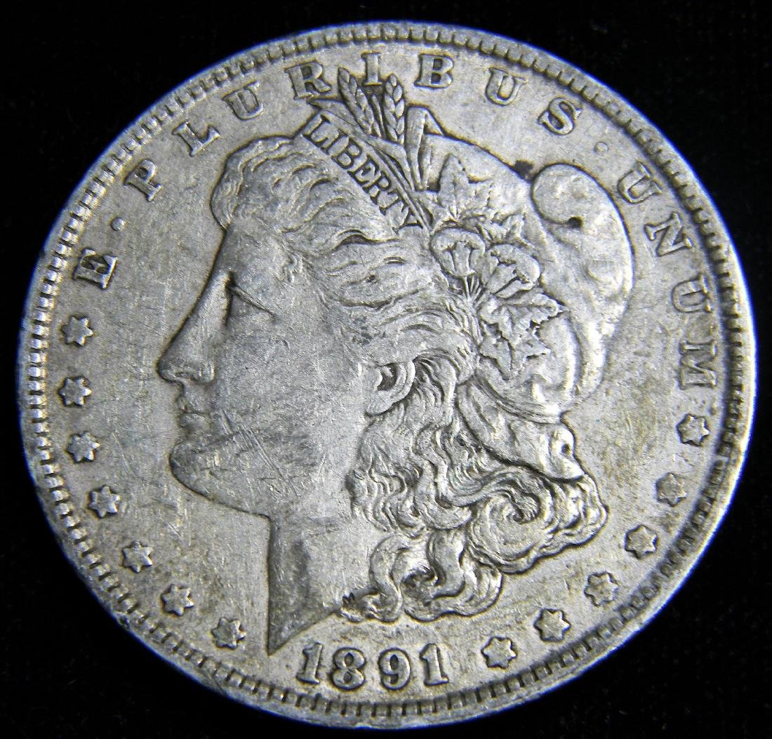 1891 Morgan Silver Dollar America's Gilded Age. Great